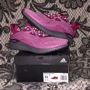 Adidas Womens Maroon Alphabounce Em